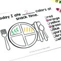 Nutrition Worksheets For Preschoolers