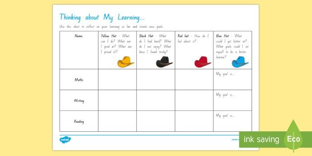 Self Reflection And Goal Setting Worksheet   Worksheet