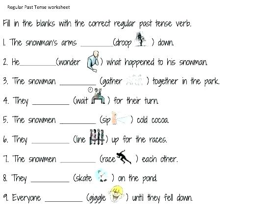 Past Tense Worksheets For Grade 2 Future Tense Exercises Grade 2