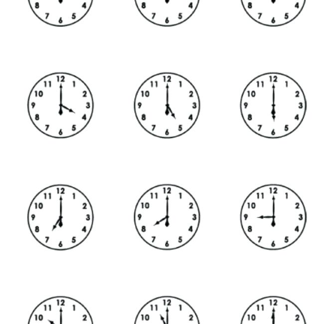 Clock Worksheets Printable – Openlayers Co