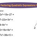 Quadratic Expressions Worksheets