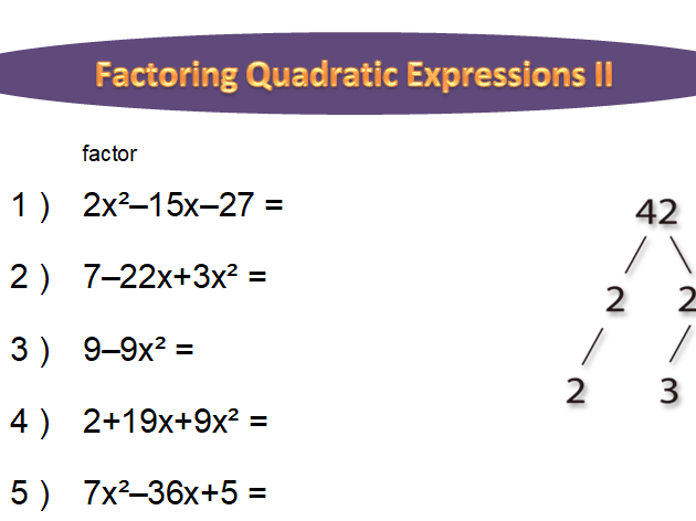 Factoring Quadratic Expressions Worksheet (long) By Idoknowmath