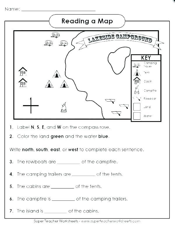Second Grade Map Skills Worksheets
