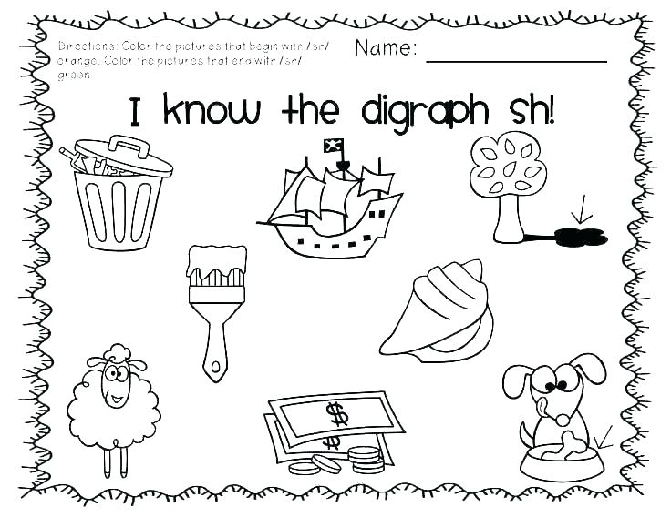 Sh Worksheets Free Ch Worksheets And Sh Worksheet Phonics Free