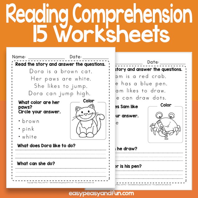 Short Reading Comprehension Passages Worksheets – Easy Peasy And