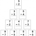 One Digit Subtraction Worksheets