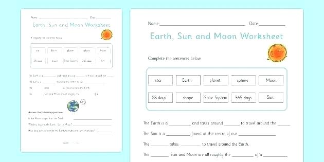 Space Exploration Worksheets For Middle School Science Worksheets