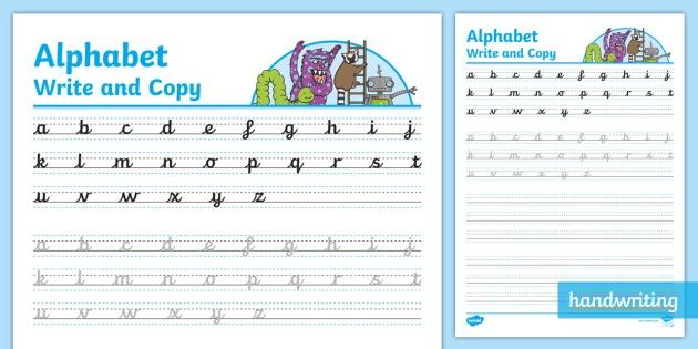 Continuous Cursive Alphabet Worksheet