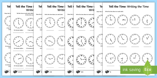 Year 3 Tell And Write The Time Differentiated Worksheet