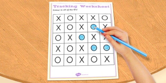 Visual Perception Tracking Worksheet