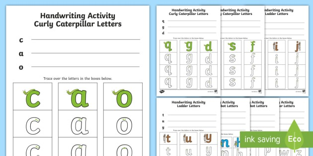 New   Letter Formation Families Handwriting Worksheets