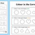 Shapes Recognition Worksheets