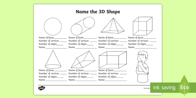 Name The 3d Shape Year 2 Worksheet