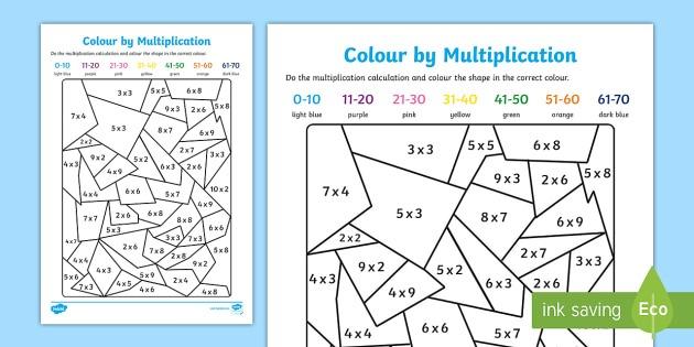 Maths Colouring Sheets