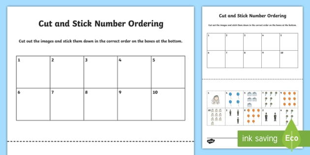 Ordering Objects And Numbers 0