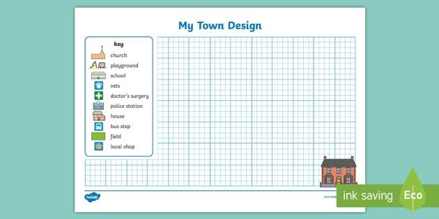Design A Town Worksheet   Worksheet