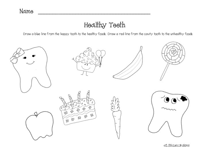 Collection Dental Worksheets For Preschool Pictures