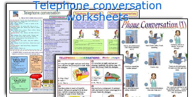 Telephone Conversation Worksheets