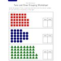 Grouping Tens And Ones Worksheets