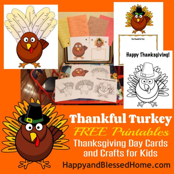 Free  Thanksgiving Day Printable Cards & Crafts