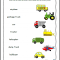 Worksheets On Transport For Grade 1
