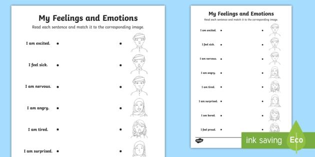 Emotions And Feelings (middle East) Matching Worksheet   Worksheet