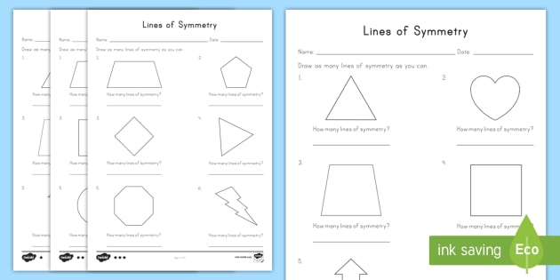 Lines Of Symmetry Differentiated Worksheet   Worksheets