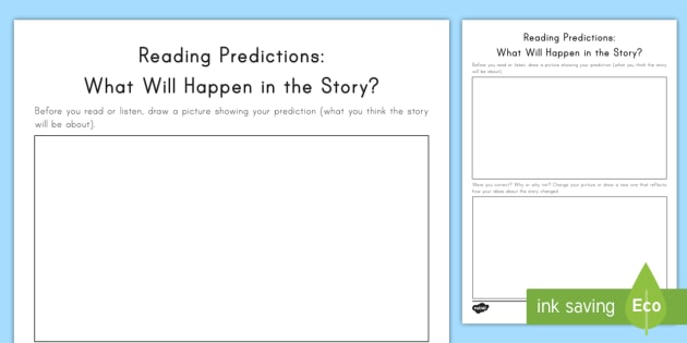 Reading Predictions  What Will Happen In The Story  Worksheet
