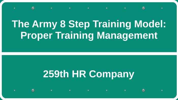 The Army 8 Step Training Model By Ryan Kim On Prezi