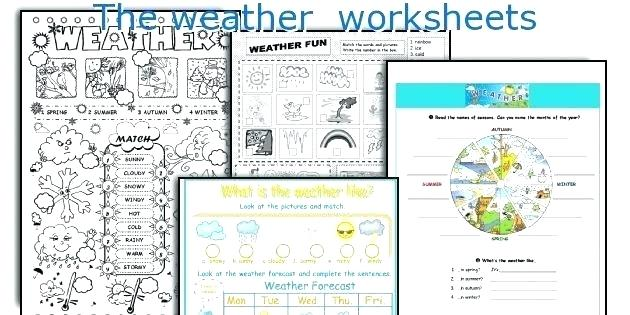 Weather Worksheets Awesome And Seasons 1 Spanish Weather