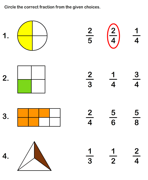 Fraction Math Worksheets