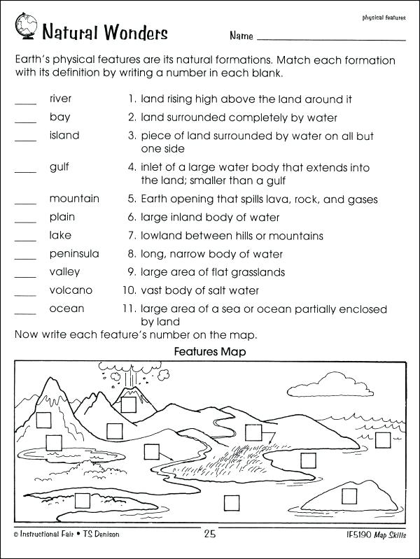Free Map Skills Worksheets