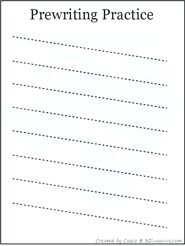Pre Writing Worksheets For Kindergarten