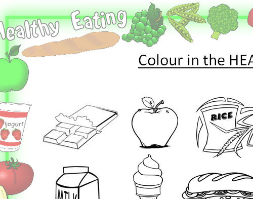 Colour In The Healthy Foods