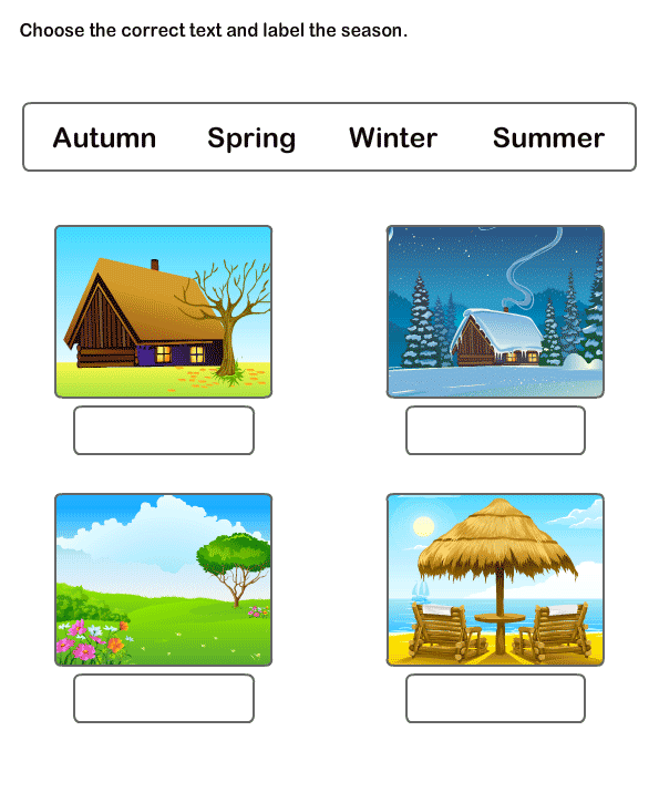 Free Printable Worksheets For Kids, Learn Seasons Worksheets