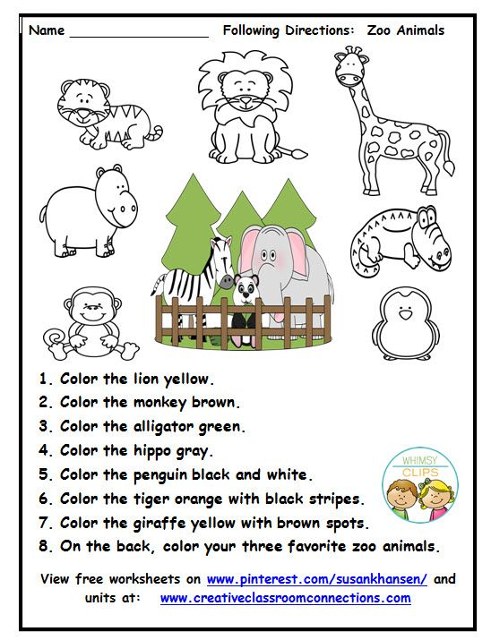 This Zoo Worksheet Provides Practice For Students To Read And