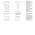 Body Systems Matching Worksheets