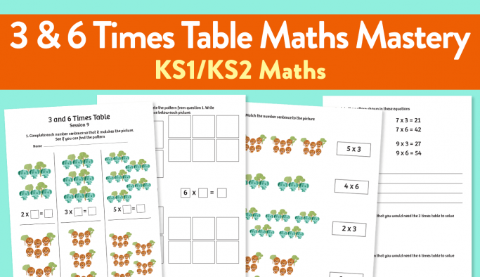 Teach The 3 And 6 Times Table Using This Clever Maths Mastery