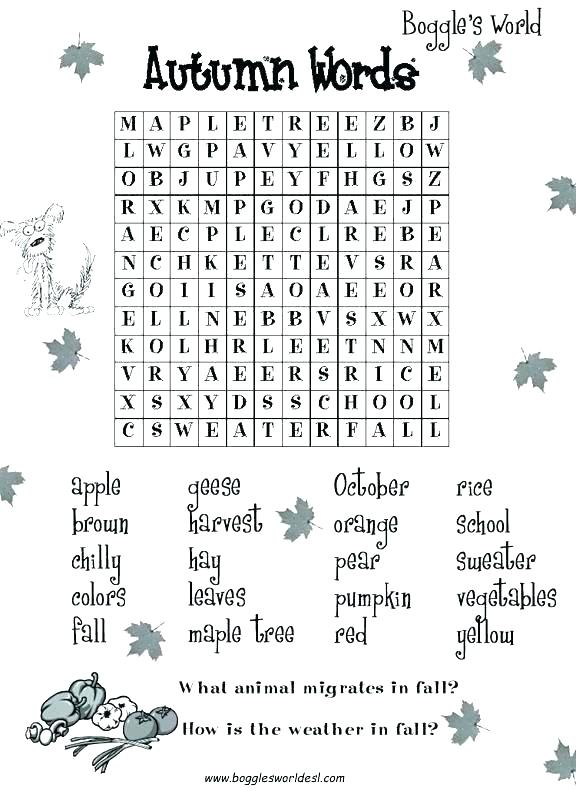 3 Animal Search Autumn Words Castle Very Hard Multiplication