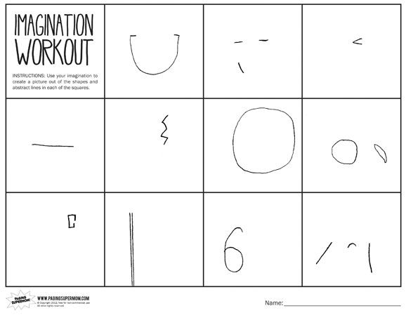 Imagination Workout Printable