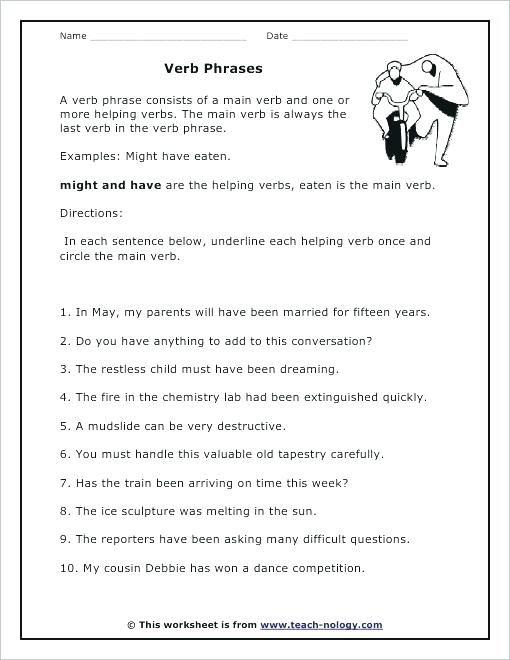 7th Grade Verb Worksheets