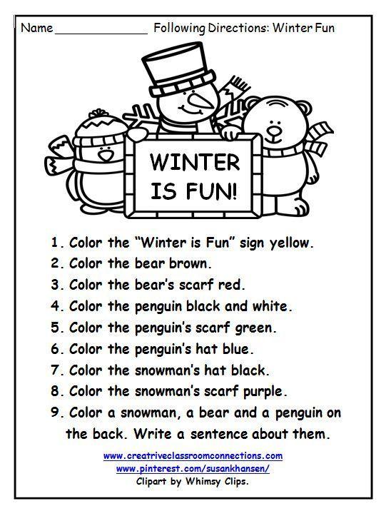 Pin On Winter Speech Activities