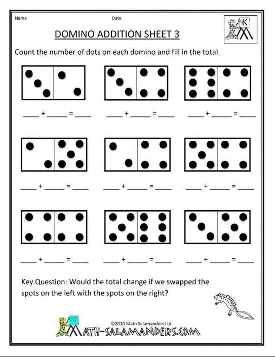 Addition Worksheet For Preschool And Kindergarten