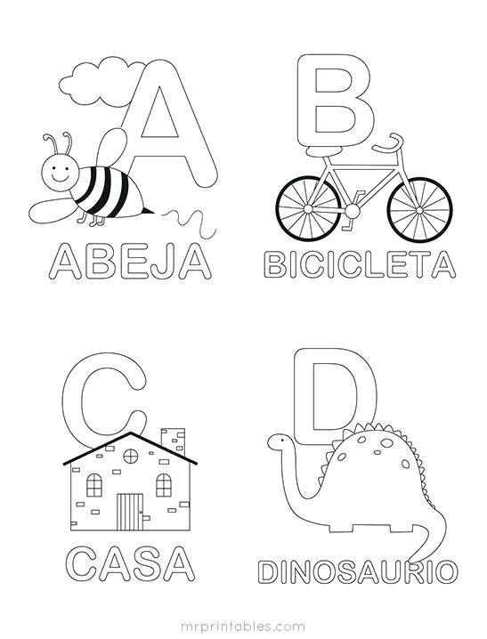 Alphabet Coloring Pages Pin By Mi On A Actividas Free Printable
