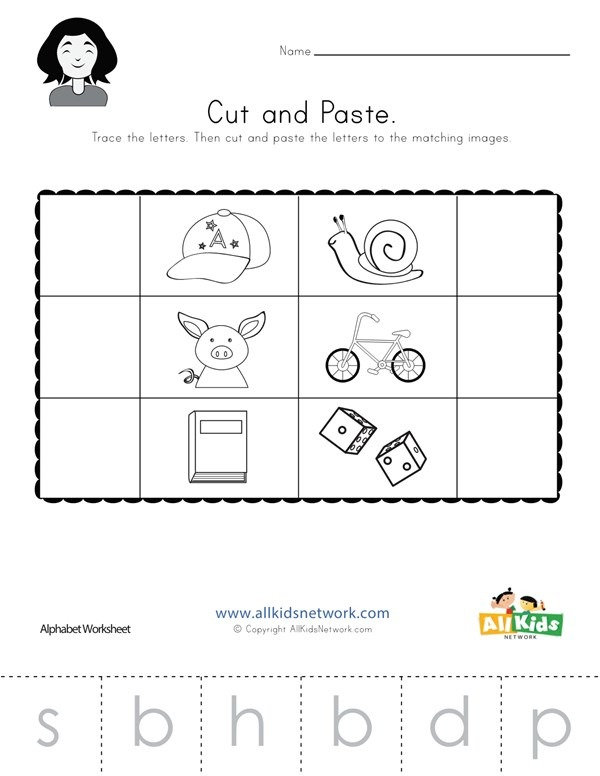 Beginning Sounds Cut And Paste Worksheet 3