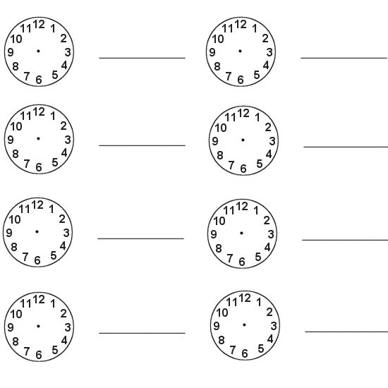 Blank Clock Face Worksheets 001 » Printable Coloring Pages For Kids