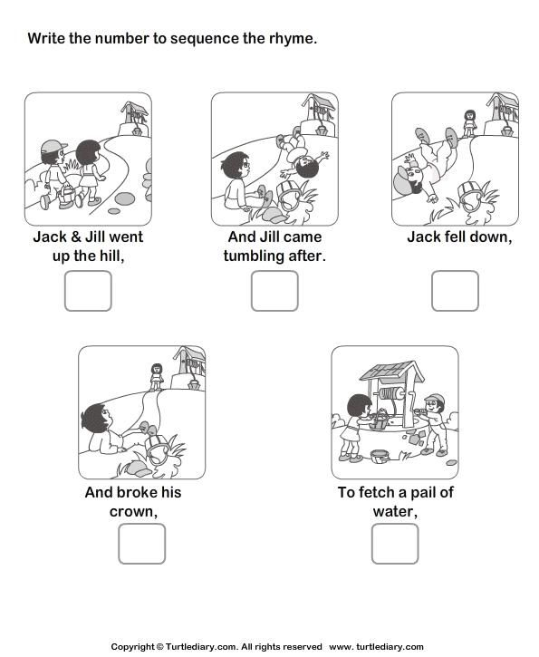 Sequence Worksheets For 1st Grade