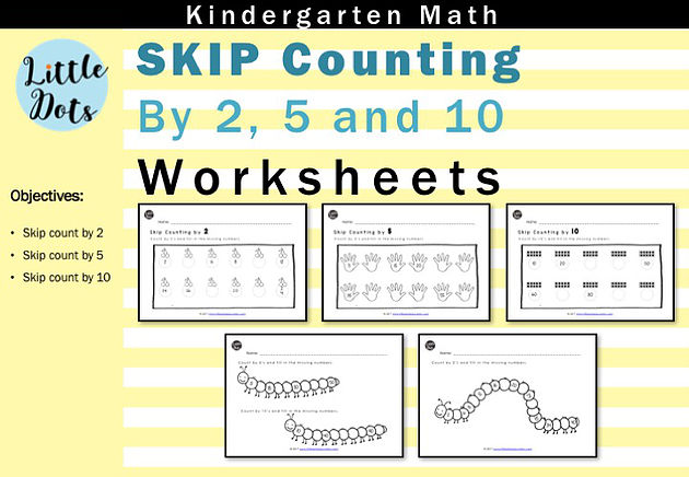 Skip Count By 2, 5 And 10 Worksheets For Kindergarten To Grade 1