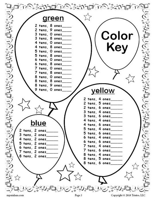 Free Printable 100th Day Of School Place Value Mystery Picture