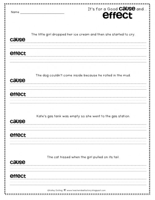 Cause And Effect Worksheets For 5th Grade